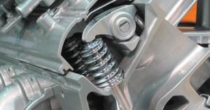 Automotive Engine Valve Spring in Cutaway